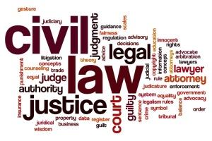 Civil law word cloud concept